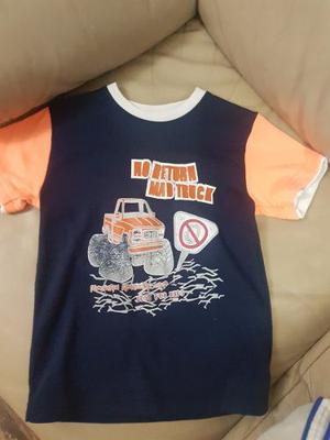 Camisa Franela Niño Marca Just For Kids Talla 8 Ropa