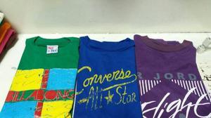 Franelas De Niño Talla 8 10 Y 12 Tommy Nike Converse
