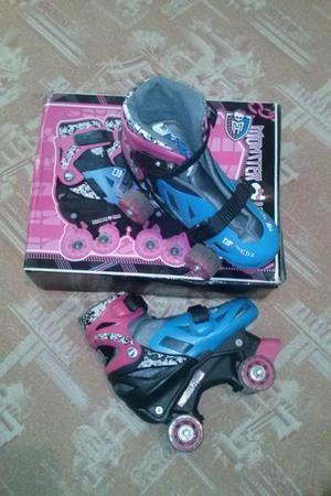 Patines 4 ruedas Monster High