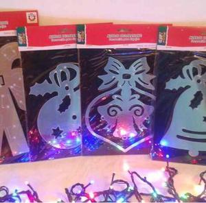 Adorno De Navidad De Lamina Tipo Espejo 4 Modelos...