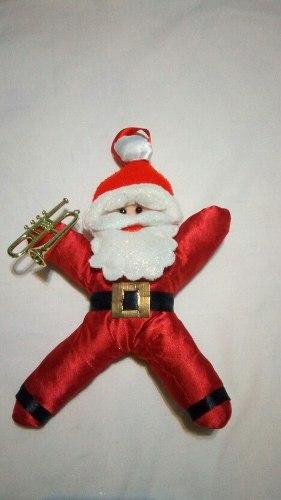 Adorno De Navidad En Tela De Saten Y Fieltro 28 X 18 Cm