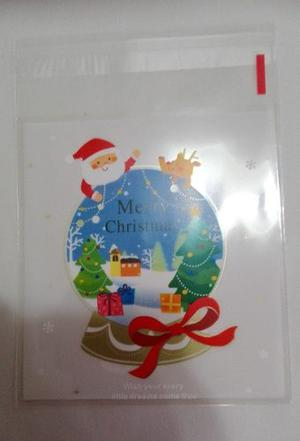 Bolsas Navidad Celofan Cierre Autoadhesivo Brownies Galletas