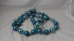 Guirnalda Bambalina Azul Navidad Decoracion 1m (ref. )