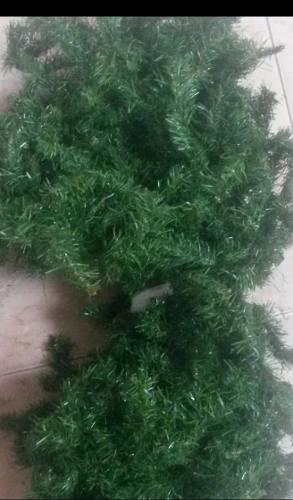 Guirnalda De Navidad Verde Alambrada 2.15mts