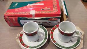 Juego De 4 Tazas De Café Pequeñas De Navidad