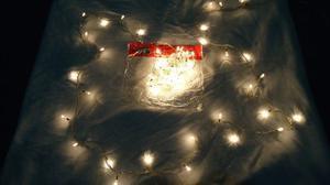 Luces De Navidad De 100 Bombillos Tipo Arroz Amarilla