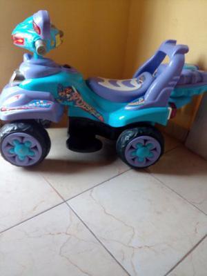 Moto 4 Ruedas De Batería Para Niños O Niñas