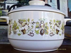 Olla D Porcelana Con Tapa Marca Royal Doulton Made In Englan