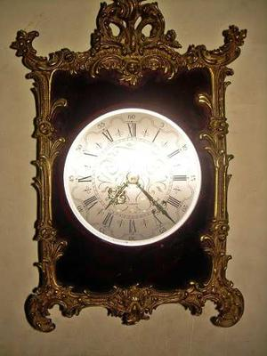 Reloj Antiguo De Bronce En Relieve Elomatic Made In France