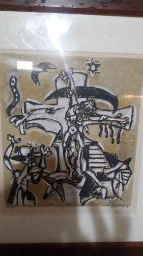 Serigrafia De Oswaldo Vigas