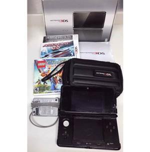 Nintendo 3ds Con Su Caja Y 3 Juegos Originales