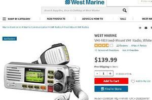 Radio Vhf 480 West Marine