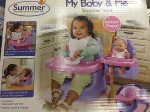 Silla De Comer Summer My Baby Con Asiento Para La Muñeca