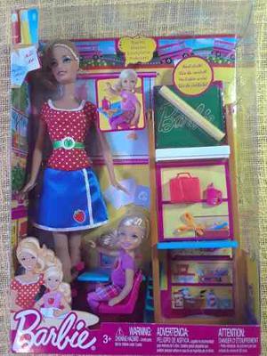 Barbie Maestra Con Kelly Y Accesorios. (nueva)