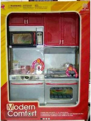 Cocina Para Muñecas Modern Confort ¡nueva! ¡oferta!