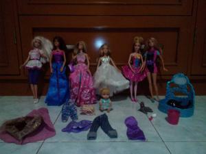 Combo De Hermosas Muñecas Barbie Originales.