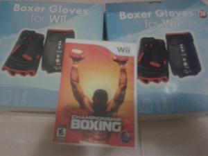 Guantes De Boxeo Para Wii Y Juego Original