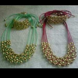 Juego De Balin Collar Y Pulsera