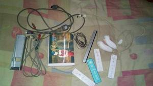 Nintendo Wii Chipeado + 4 Controles + 80 Juegos+ Memory Card