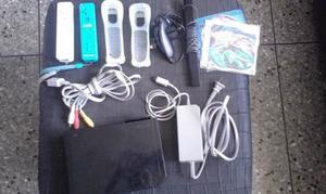 Nintendo Wii Negro Con Todos Sus Acesorio
