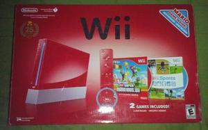 Nintendo Wii Rojo Edición Especial