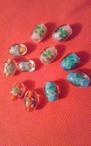 Piedras En Vidrio Encapsuladas De  Y 15mm