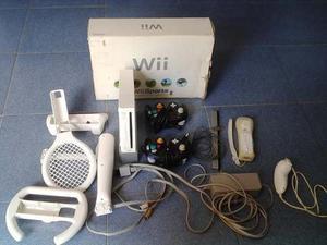Wii Usado En Buen Estado Poco Uso En Su Caja Chipeado