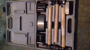 set de herramientas para trabajar latoneria con su maletin