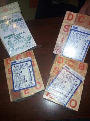 Cubos Didacticos (Juguetes) De Numeros Y Letras