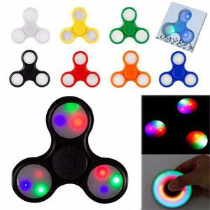 Fidget Spinner Con Luces Led Antiestres