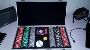 Maletín De Poker De Casino Las Vegas 300 Fichas Casi Nuevo