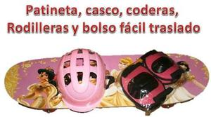 Patinetas Para Niñas De Princesas Disney Kit De Protección