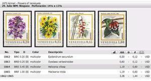 Estampillas Flores De Venezuela