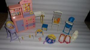 Juguetes De La Barbie, Accesorios Para Armar Casas.