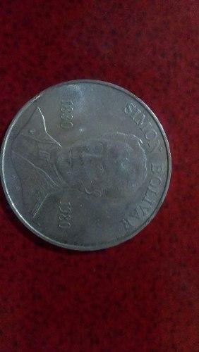 Moneda De Plata 100 Bolivares