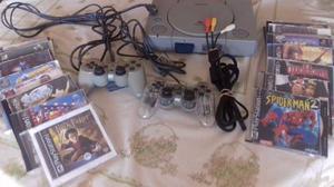 Playstation 1 Original, 2 Controles, Cables Y 19 Juegos