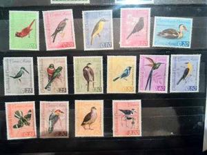 Serie Estampillas Fauna De Venezuela Aves