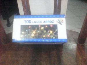 100 LUCES TIPO ARROZ DE COLORES