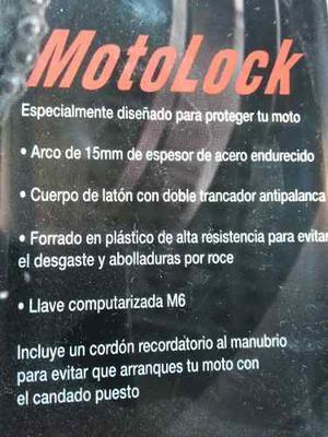 Candado Cisa Vulkan Para Moto Con Tres Llaves De Seguridad