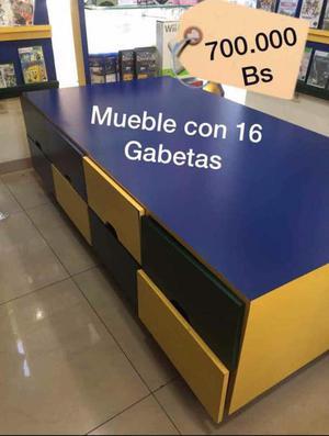 Mueble de 16 Gabetas