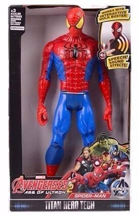 Spiderman Con Luz Y Sonido 30 Cm Muñeco Hombre Araña
