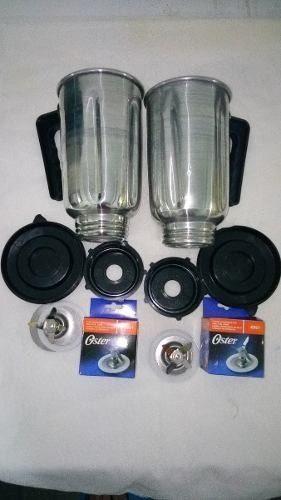 Vaso D Aluminio Para Licuadora Oster Con Tapa Rosca Hojilla