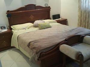 Juego De Dormitorio De Cedro Queen Marqueteado
