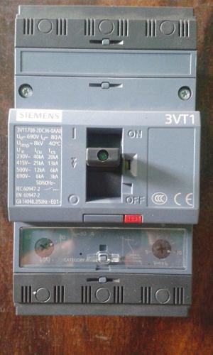 Breaker Siemens 80 Amp Trifasico