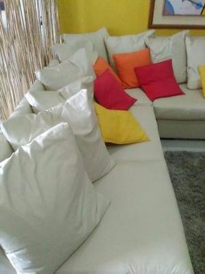 Juego Muebles Modulares Semi-cuero, Cojines Mesa (caracas)