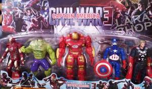 Juguete Set De 5 Vengadores Hulkbuster Iron Man Capitan
