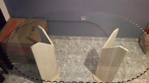 Mesa Comedor De Vidrio Con Bases De Marmol
