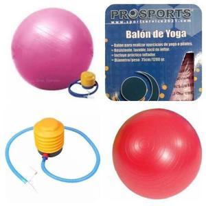 Pelota Yoga Fitness 75cm Inc. Inflador. Prosport. Oferta!!!