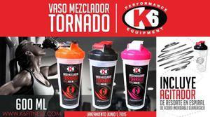 Vaso Mezclador De Proteinas Marca K6 Modelo Tornado