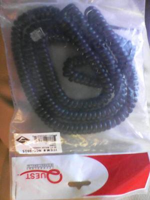 Cable O Cordon Espiral Para Telefono 7.5 Mts Marca Quest